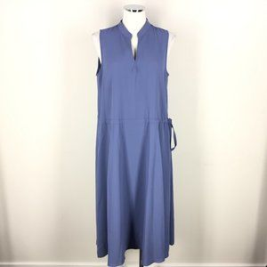 Anne Klein L 12 Smokey Blue dress Midi Sleeveless